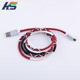 Cable micro USB Sync Cable del cargador de trenzado de nylon con carcasa de metal