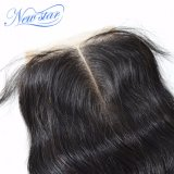 capelli umani reali del Virgin della parte 4X4 del merletto delle chiusure dell'onda indiana centrale del corpo