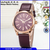 Reloj clásico de la marca de fábrica del reloj de la aleación de encargo del asunto (WY-129B)
