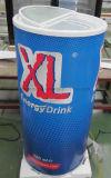 Pode exibir frigorífico congelador ronda em forma de barril do Refrigerador de Bebidas