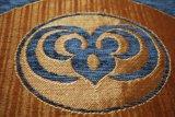 Голубая ткань софы синеля 290GSM