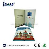 Горячая продажа 2,8 дюйма пользовательское видео брошюра/видео карта для деловых подарков