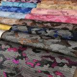 2018 Form-Tarnung-Eidechse-Muster PU-Leder für Handtasche