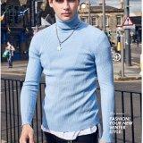 2017 longues chemises de sueur en gros de compactage de chemise pour les hommes ont tricoté la chemise de col roulé