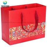 赤いパケット包装のための2018年の中国の新年のギフトのパッキングカスタム印刷紙袋