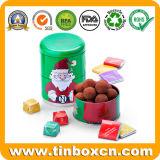 Олово подарка рождества Santa Claus для коробки хранения металла Xmas