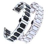 18 22мм Quick Release керамические Посмотреть ленту для передачи Samsung S3 классические границы стали бабочка Застежка ремешка браслет ремень Link браслет