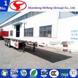 3 Flatbed Aanhangwagen van assen 60tons, de Aanhangwagen van de Container, Semi Aanhangwagen