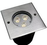 iluminación subterráneo de 3X3w IP67 LED, luz de la cubierta, suelo al aire libre - dispositivos montados