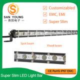 De 25 pulgadas mini LED sola fila delgada LED de la barra ligera del CREE de los carros de la luz de conducción del camino ATV SUV