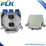 Rectángulo de empalme óptico industrial de fibra del montaje del carril del estruendo