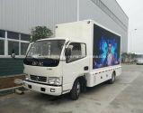 Venta caliente 5 toneladas de carro publicitario móvil con la pantalla impermeable