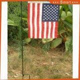 Precio barato Hotsale decorativo exterior Logotipo personalizado volando la impresión de la bandera de jardín