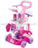A limpeza plástica da casa do jogo do OEM utiliza ferramentas o brinquedo do aspirador de p30