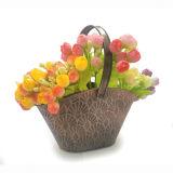 POT di fiore d'ottone antico del metallo di colore