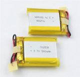 Li-Po célula de baterías del polímero del litio de la batería 702530 3.7V 500mAh para los dispositivos elegantes 1.85wh