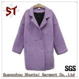 Reine Farben-Abnützung der Dame-Short Winter Coat Woolen
