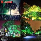 Lasers ao ar livre dinâmicos com laser ao ar livre de controle remoto do jardim do RGB para o Natal e a decoração interna