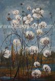 DecorationのためのハンドメイドのFarm Art Cotton Field Oil Paintings