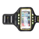 iPhoneのための腕章ベルトを実行する慰めの防水LEDスポーツ