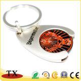 Pièce de monnaie personnalisée de support de pièce de monnaie de chariot à achats de boucle principale de pièce de monnaie de chariot avec la boucle principale