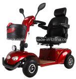 Четыре колеса скутера с электроприводом с сиденья