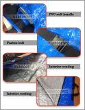 Ga406 PP resistente al agua azul Material PE Bolsa cadáver mortuorios