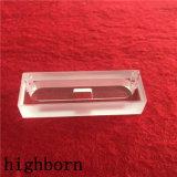 Freies Quarz-Glas fließen Zelle mit quadratischer Öffnung durch