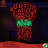 СИД освещая света украшения рождества света мотива 2.5*1.2m 3D Rose