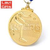 주문 금속판 금속 메달 생산자 공급은 테니스 스포츠 고품질 방아끈을%s 가진 현상 기념품 금속 메달을 주연시킨다