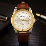 Relógio luxuoso do negócio do couro genuíno do relógio dos homens do preço de grosso H348 para homens