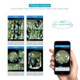 Birne WiFi Kamera 360° Heller Fernmonitor panoramischer des Bewegungs-Befund-drahtloser Kindermädchen-Nocken-960p HD des Videogerät-LED für iPhone/androides Telefon