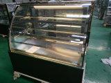 Refrigerador do indicador da pastelaria do Showcase do bolo do preto de 3 camadas com o refrigerador dianteiro do indicador do bolo do estar aberto