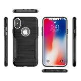 Fibra do carbono dos materiais de TPU para casos do iPhone X