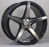 Borda da roda da liga de Jwl de 5 peças sobresselentes da motocicleta do preto da prata do mercado de acessórios dos raios 5X120 auto