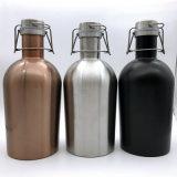 64oz Growlers cerveja isolados em aço inoxidável Growler aspire água Botija