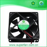 80*80*25mm 12 Volt DC de plástico do ventilador do ventilador do Rolamento da manga do Ventilador de Refrigeração