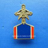 Неправильной формы медаль позолоченный логотип Lape контакт (размеры GZHY-021)