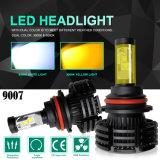 Température de couleur X4 Dual 3000K 6500K Conversion LED, Projecteur LED Lampe phare de voiture H7