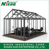 Instalação rápida e fácil em liga de alumínio Garden Estufa com teto de passo duplo clássico, casa de inverno com Design Europa Nórdica Sh1001D-2