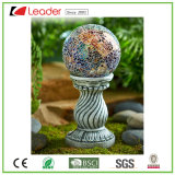 Het populaire het Staren Polyresin ZonneColoum Standbeeld van de Bal voor de Decoratie van de Tuin, OEM Ontwerpen wordt ingestemd met