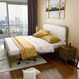 Современные спальни мебель, кровати с цельной древесины рамы для дома