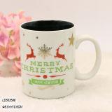 La tazza di ceramica bianca di natale di alta qualità con il disegno del pupazzo di neve per i regali domestici di festa e della decorazione, fa la vostra propria tazza di Chiristmas