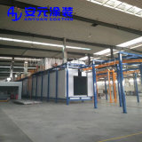 Riga di rivestimento automatica della polvere per i prodotti metalliferi con il sistema di trattamento preparatorio