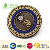 高品質のカスタム記念する3Dエナメルの金によってめっきされる星は私達軍隊硬貨に挑戦する