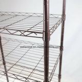 5 niveles ajustables de la esquina de hogares con cable de acero resistente bastidor de Almacenamiento Estanterías
