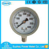 2inch-50mm Étui en acier gris Type de fond 400 psi Indicateur de pression d'ammoniac