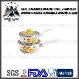 De vervaardiging LFGB verklaarde de Decoratieve Pot van de Melk van het Email van het Overdrukplaatje van het Embleem