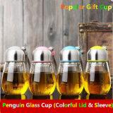 Tazza di vetro portatile di vendita calda con la tazza di sport del filtro e del coperchio
