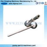 合金のステンレス鋼材料が付いている磨く部分